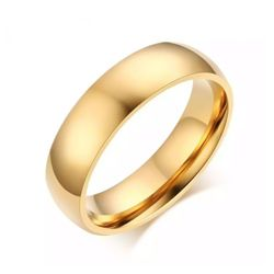 1 Piece Durable Stainless Steel Wedding Ring - Gold
