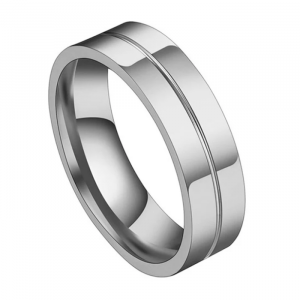 1 Pcs Never Fade Stainless steel Wedding and Engagement Ring