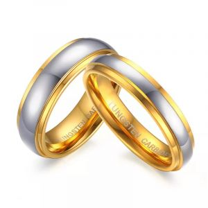 1 Pcs Never Fade Tungsten Durable Anti-Scratch Wedding Ring - Silver