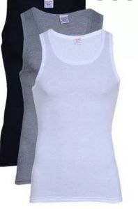 3 pack multicolored singlet