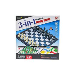 Family 3 in 1 Chess Games Toy Snakes & Ladders Flying Chess