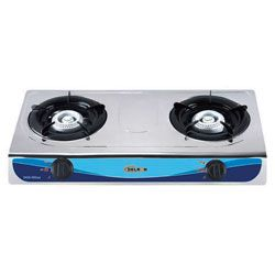 Automatic DGS-002as Table Top Gas Cooker - 2 Burner - Silver