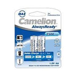 Camelion AlwaysReady 2500mAH Rechargeable AA Battery ( 1 x 12 packs) Per Box