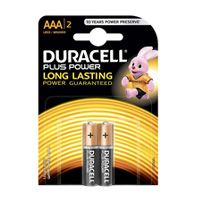 Duracell Plus Power Dry-Cell Batteries - 1.5v x 2AAA