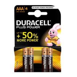 Duracell Plus Power x 4AAA