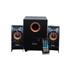 Iparrot I-20extra Wooden Multimedia Bluetooth Speaker With Remote Control - 2.1  Channel