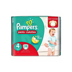 Pampers Pants Diapers, Maxi - Size 4 - 28 Count