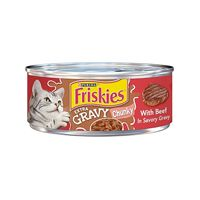 Purina Friskies Extra Gravy Chunky With Beef in Savory Gravy Wet Cat Food - 300g
